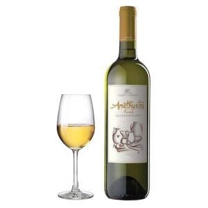 Κτήμα Κώστα Λαζαρίδη Αμέθυστος Sauvignon Blanc Fume 2016 Ποτήρι