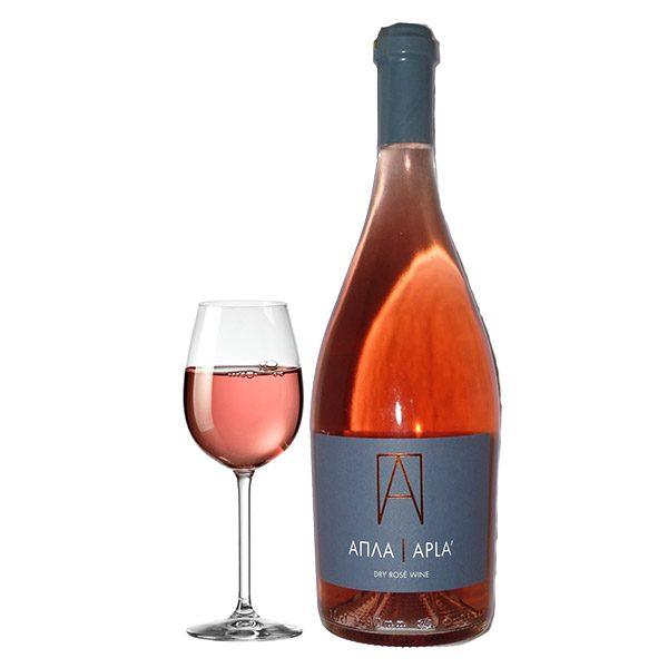 Οινοποιητική Oenops Wines Απλά Ροζέ 2016 Ποτήρι