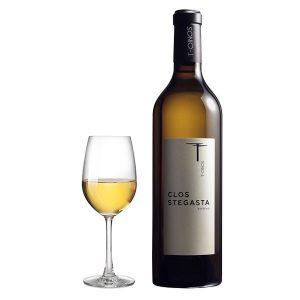 Τηνιακοί Αμπελώνες Clos Stegasta Λευκός 2016 Ποτήρι
