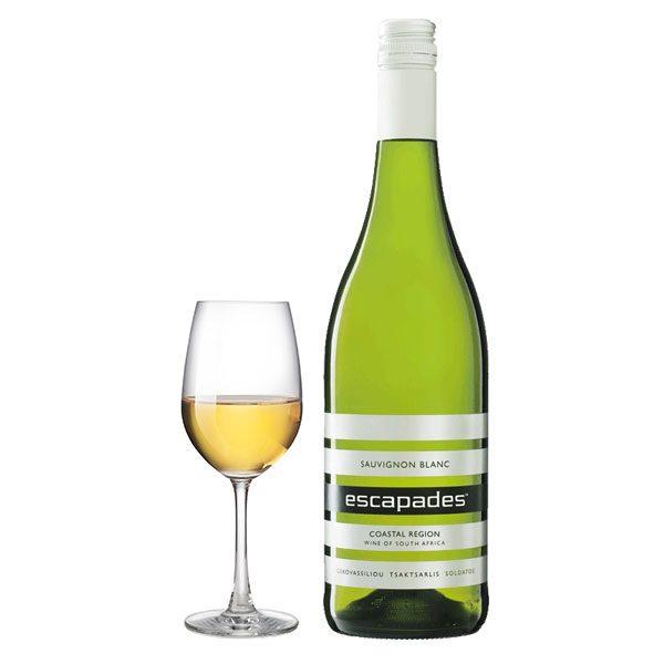 Escapades Sauvignon Blanc Λευκός 2016 Ποτήρι
