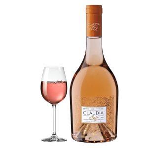 Παπαγιάννη Claudia Rose 750ml 2016 Ποτήρι