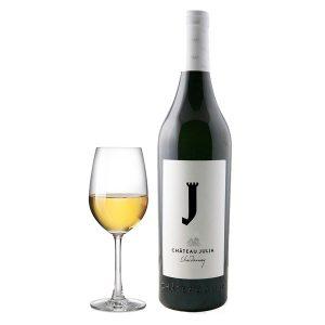 Κτήμα Κώστα Λαζαρίδη Château Julia Chardonnay Λευκός 2017 Ποτήρι