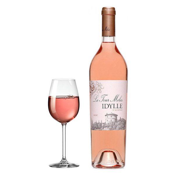 Μελάς La Tour Idylle D 'Achinos Ροζέ 2016 Ποτήρι